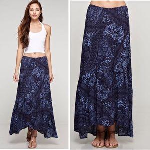 LOVESTITCH EARTHY Blue Maxi skirt